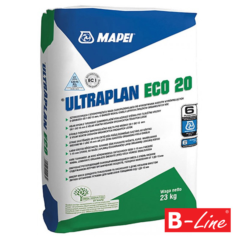 Samonivelizačná stierka Mapei Ultraplan Eco 20