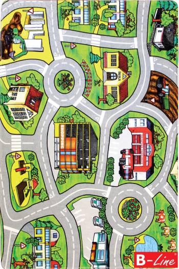 Detský kusový koberec Silnice