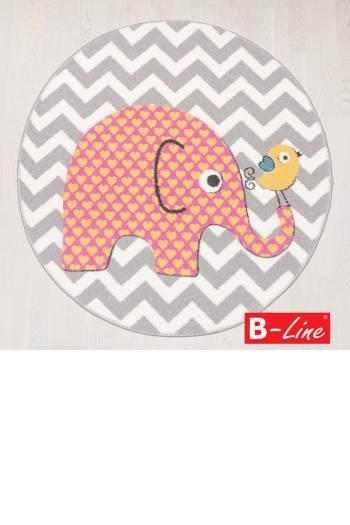 Kusový koberec Pastel Kids 48/SVS/kruh