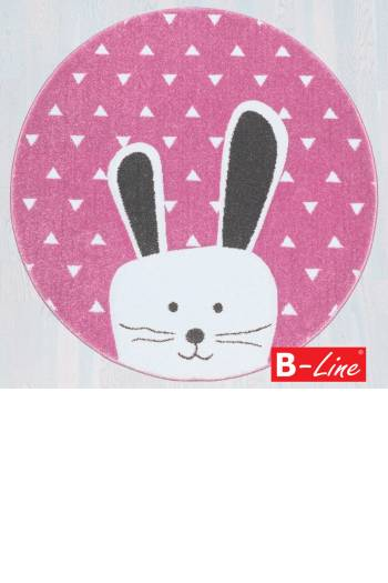 Kusový koberec Pastel Kids 52/RVR/kruh