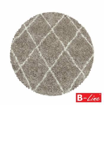 Kusový koberec Alvor Shaggy 3401 Beige/kruh