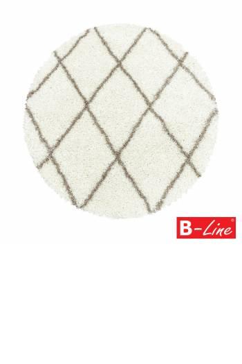 Kusový koberec Alvor Shaggy 3401 Cream/kruh