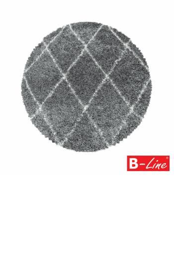 Kusový koberec Alvor Shaggy 3401 Grey/kruh