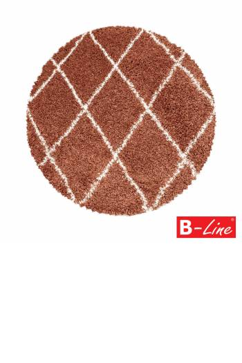 Kusový koberec Alvor Shaggy 3401 Terra/kruh