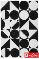Kusový koberec Black & White 392 Black-White