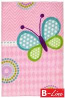 Kusový koberec Lollipop 184 Butterfly