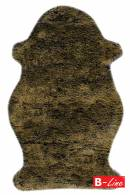 Kusový koberec Samba 495 Lemon/kožušina