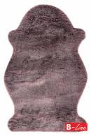 Kusový koberec Samba 495 Mauve/kožušina