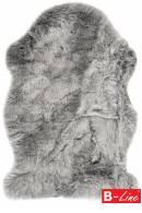Kusový koberec Samba 495 Silver/kožušina