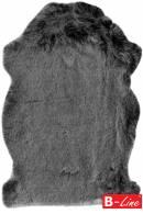 Kusový koberec Samba 495 Anthracite/kožušina