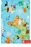 Kusový koberec Torino Kids 233 World map